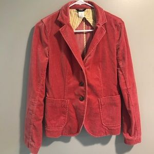 J. Crew Pink Crush Velvet Blazer Jacket Size XS
